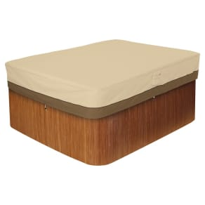 Veranda Medium Rectangular Hot Tub Cover - Light Pebble - Classic Accessories