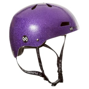 Punisher Skateboards Pro 13-Vent Dual Safety Bmx Bike and Skateboard Helmet - Purple (Medium)