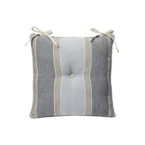 Linea Blue Stripe Seat Pad, Blue