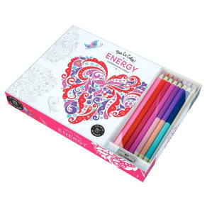 Vive Le Color! Energy Colouring Book With Coloured Pencils