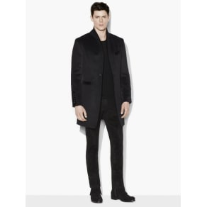 John Varvatos Alpaca and Virgin Wool Cutaway Coat