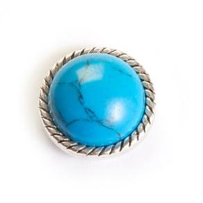 Motifs Turquoise Stone Snap Charm