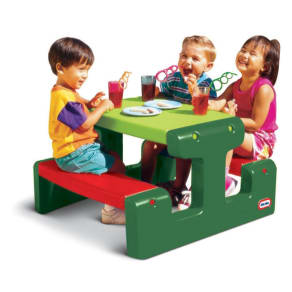 Little Tikes Junior Picnic Table Evergreen