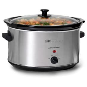 Elite Platinum 8.5 Qt. Slow Cooker - Stainless Steel