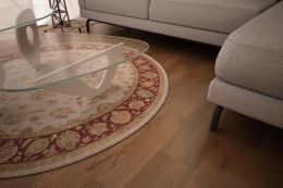 Prime Engineered Oak Smoked Brushed Uv Oiled 14/3mm By 190mm By 1900mm