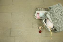 Prime Engineered Flooring Oak UK Grey Brushed UV Oiled 14/3mm By 190mm By 1900mm