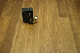 Select Engineered Flooring Oak Click Light Smoked Brushed UV Oiled 14/3mm By 190mm By 1900mm