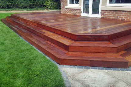 Ipe Hardwood Decking Boards Using Hidden Fixing 21mm By 145mm By 3353mm