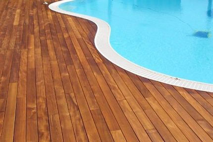 Iroko Hardwood Decking Boards Using Hidden Fixing 20mm By 120mm By 3150-3650mm