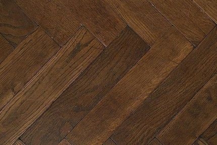 Prime Engineered Flooring Oak Herringbone Coffee Brushed UV Oiled 15/4mm By 90mm By 600mm