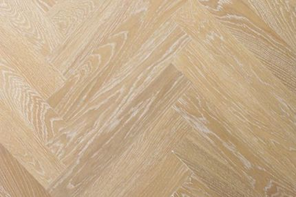 Prime Engineered Oak Herringbone Sunny White Brushed UV Oiled 15/4mm By 90mm By 600mm