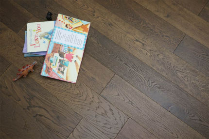 Natural Engineered Oak Click Coffee Brushed UV Oiled 14/3mm By 150mm By 400-1500mm