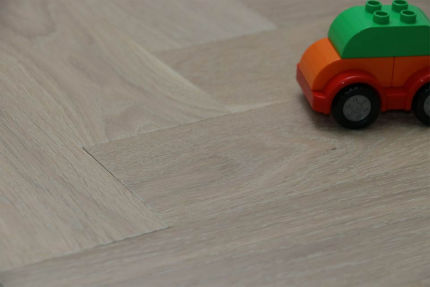 Prime Engineered Flooring Oak Herringbone Sunny White Brushed UV Oiled 14/3mm By 97mm By 790mm