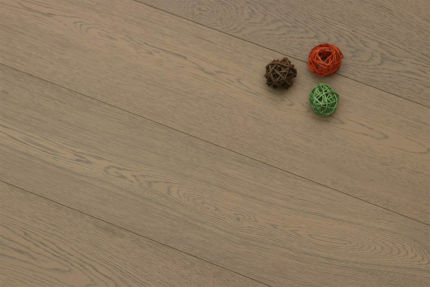 Select Engineered Flooring Oak Click Spring Grey Brushed UV Oiled 14/3mm By 190mm By 1900mm