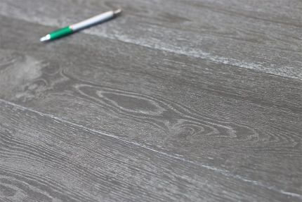 Natural Engineered Flooring Oak Dark White Grey Brushed UV Oiled 14/3mm By 190mm By 1900mm