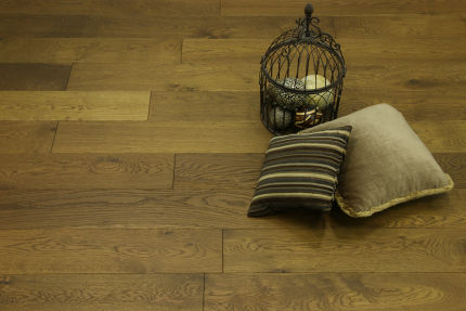 Natural Engineered Oak Click Smoked Brushed UV Oiled 14/3mm By 150mm By 400-1500mm