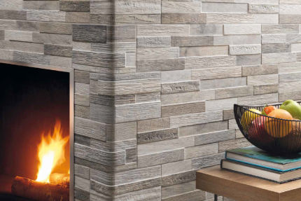 Porcelain Stoneware Wall Art Grey 150mm By 610mm