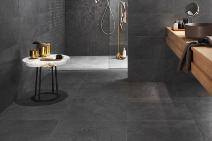 Porcelain Tile Minerva Black 450mm By 900mm