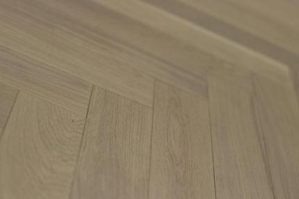 Prime Engineered Flooring Oak Herringbone White UV Oiled 14/3mm By 98mm By 790mm