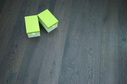 Rustic Engineered Flooring Oak Click 2 Vintage Black Tea UV Oiled 14/3mm By 190mm By 1900mm