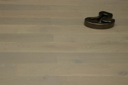 Rustic Engineered Flooring Oak White Grey Brushed UV Oiled 10/3mm By 125mm By 600-1900mm
