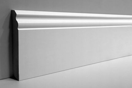 White MDF Skirting Board 140mm by 18mm by 2500mm