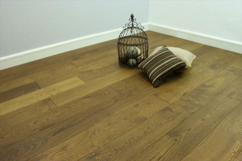 Rustic Engineered Flooring Oak Smoked Brushed UV Oiled 10/3mm By 150mm By 600-1900mm