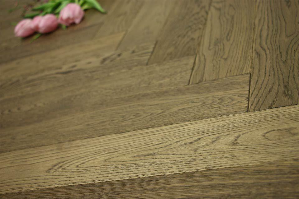 Prime Engineered Flooring Oak Herringbone Smoked Brushed
