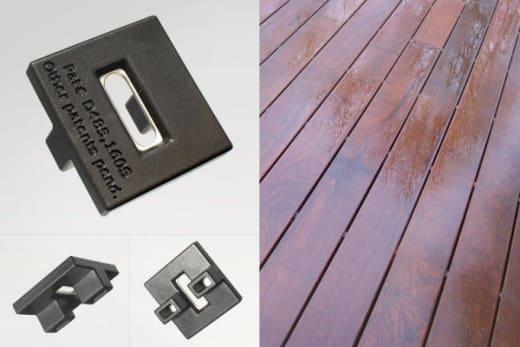 Decking Clips for Ipe Hidden Fixing Boards
