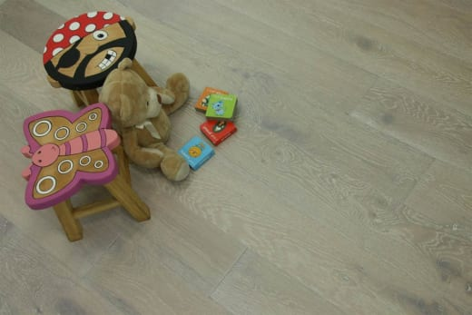 Natural Engineered Flooring Oak Click Sunny White Brushed UV Oiled 14/3mm By 190mm By 1860mm