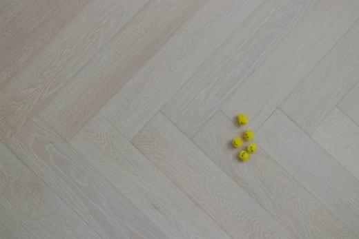 Prime Engineered Flooring Oak Herringbone Double White Brushed UV Oiled 15/4mm By 90mm By 600mm