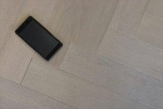 Prime Engineered Flooring Oak Herringbone White Grey Brushed UV Oiled 14/3mm By 98mm By 588mm