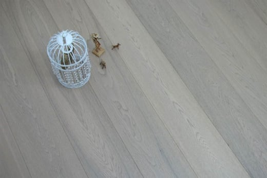 Select Engineered Flooring Oak Click Paris White Brushed UV Oiled 14/3mm By 190mm By 1900mm