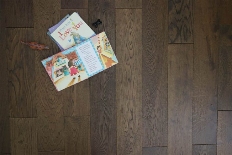 Natural Engineered Oak Coffee Brushed UV Oiled 14/3mm By 150mm By 400-1500mm