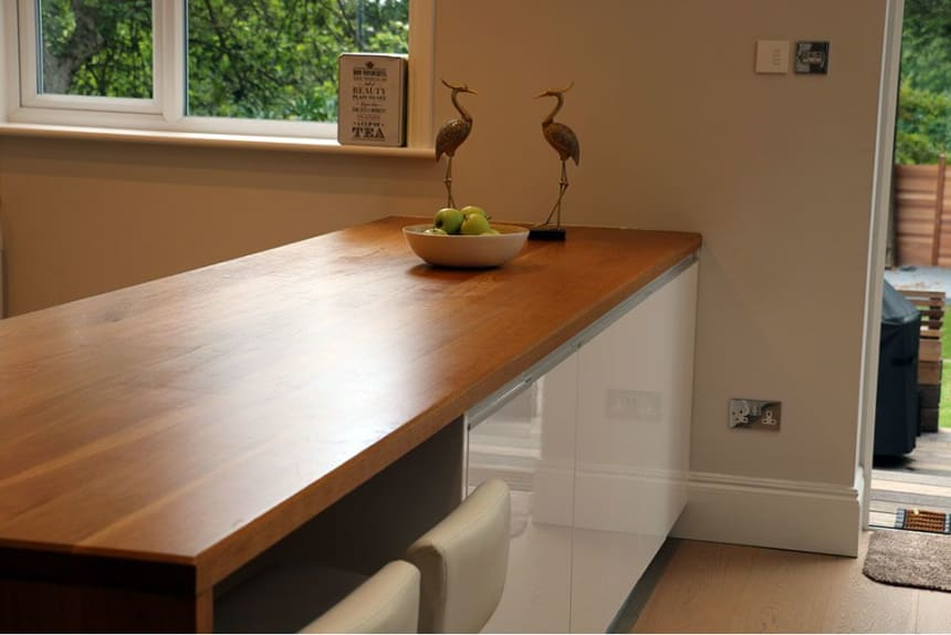 Full Stave Premium Oak Worktop 38mm By 750mm By 2400mm