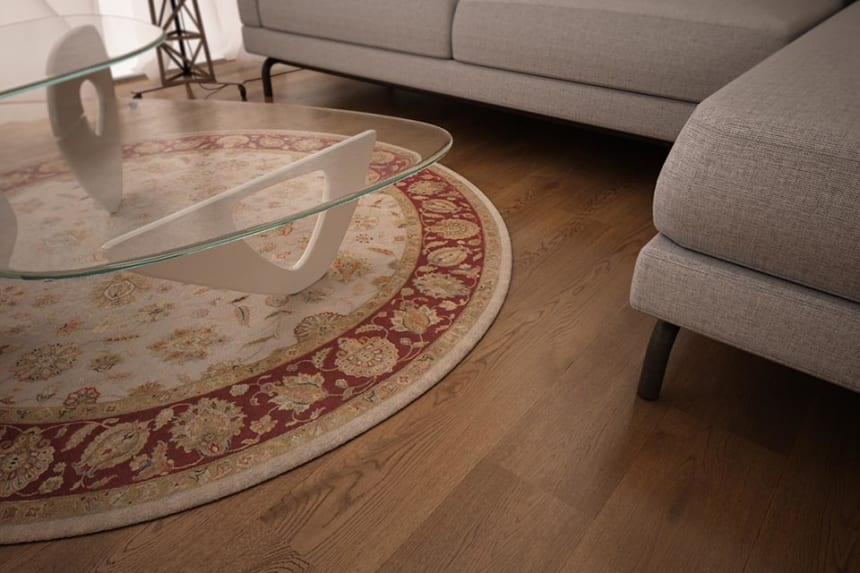 Natural Engineered Oak Smoked Brushed UV Oiled 14/3mm By 180mm By 400-1500mm