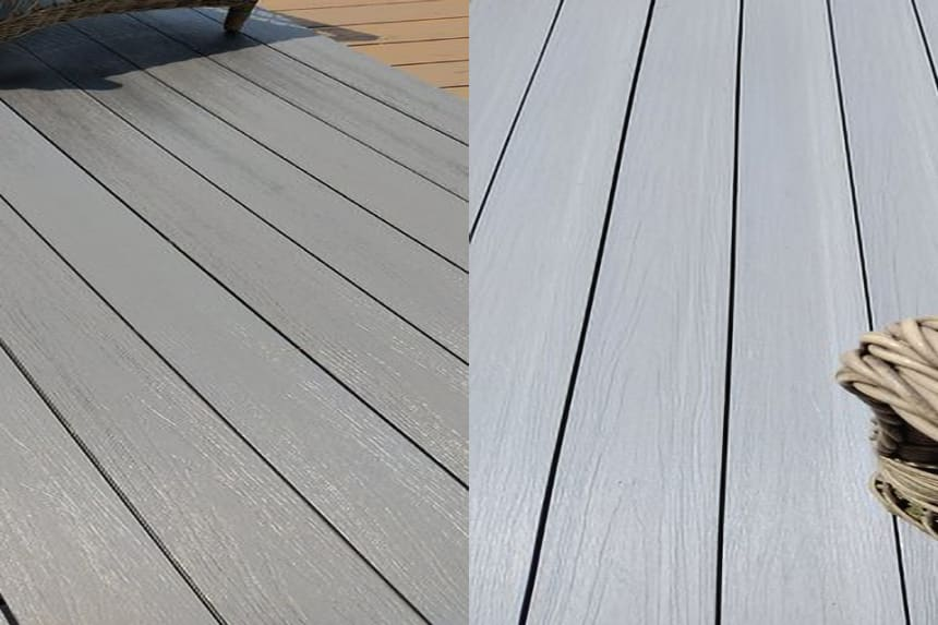 Supremo WPC Double Face Composite Decking Boards Patina & Graphite 23mm By 135mm By 2400mm