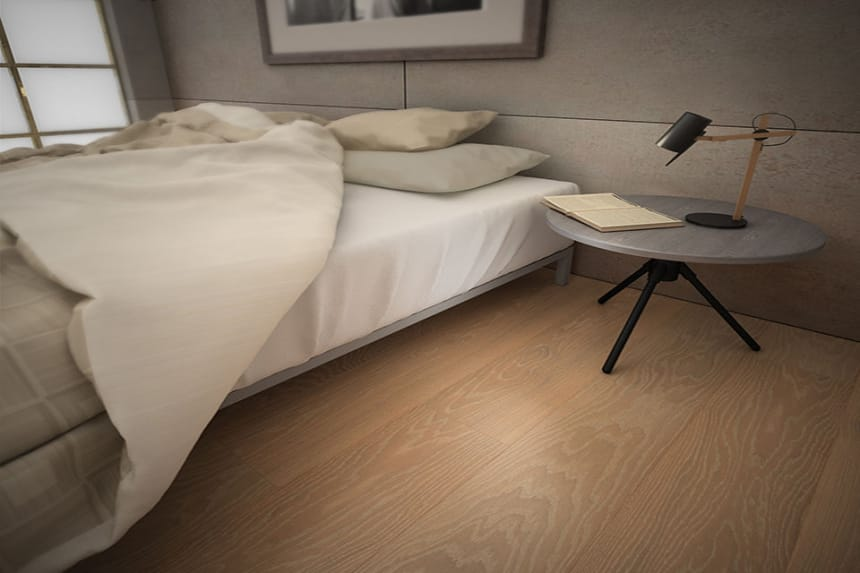 Prime Engineered Oak Brushed White UV Oiled 14/3mm By 190mm By 1900mm