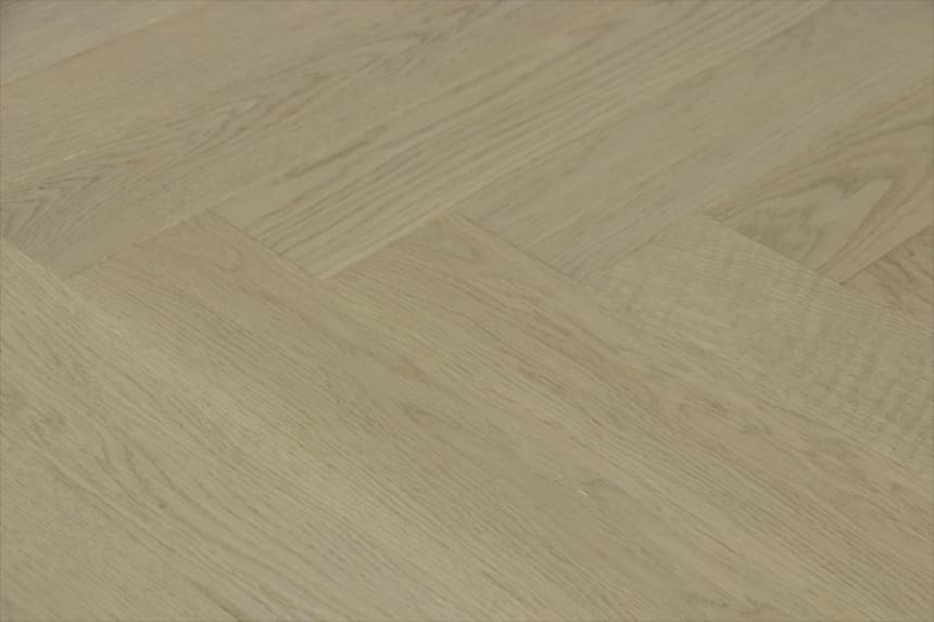 Prime Engineered Flooring Oak Herringbone Silver Stone Brushed UV Matt Lacquered 14/3mm By 98mm By 588mm