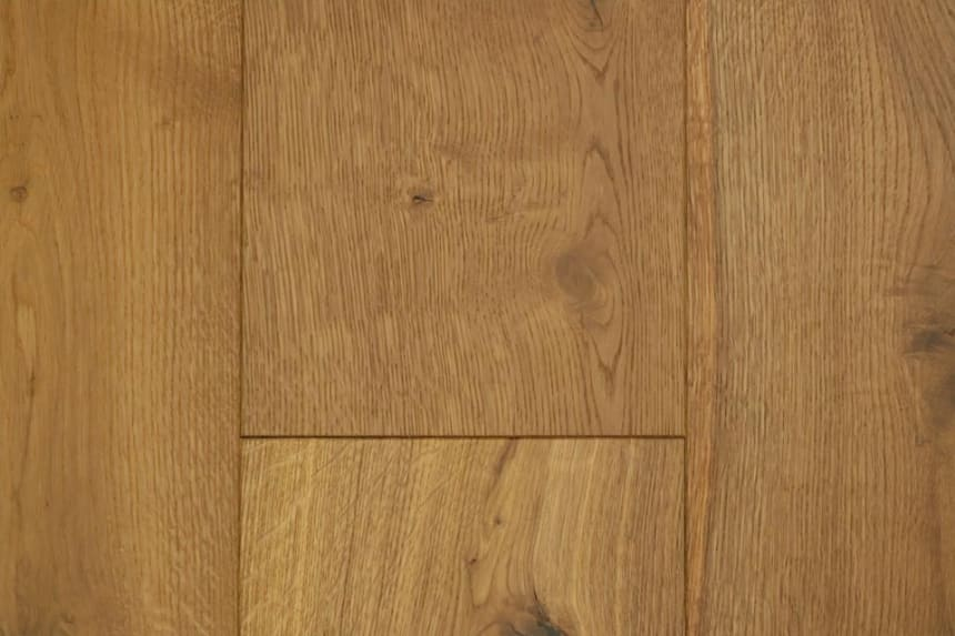 Natural Engineered Flooring Oak Light Smoked Brushed UV Oiled 14/3mm By 240mm By 2200mm