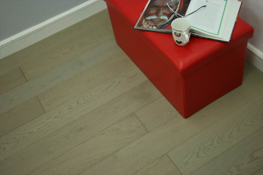 Select Engineered Flooring Oak UK Grey Brushed UV Oiled 15/4mm By 190mm By 1900mm