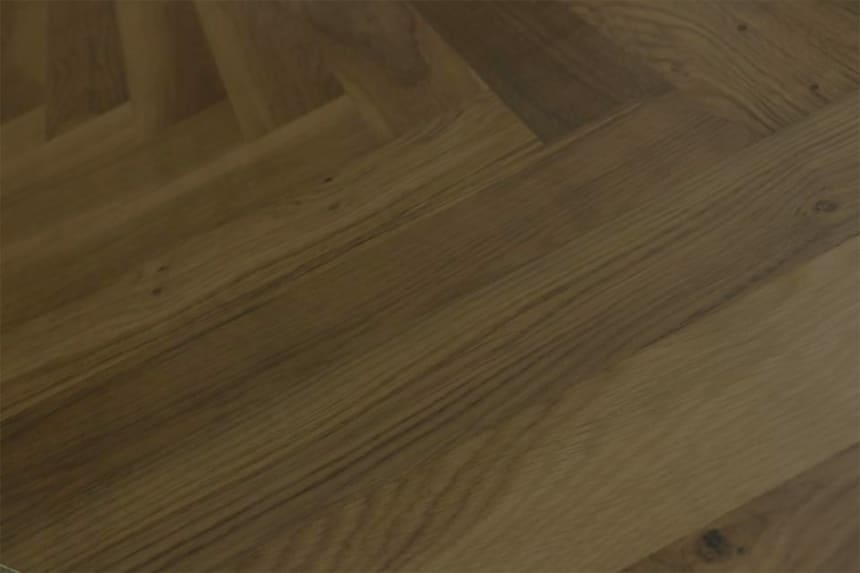Natural Engineered Flooring Oak Herringbone Macchiato Lacquered No Bevel 11/3.6mm By 70mm By 490mm