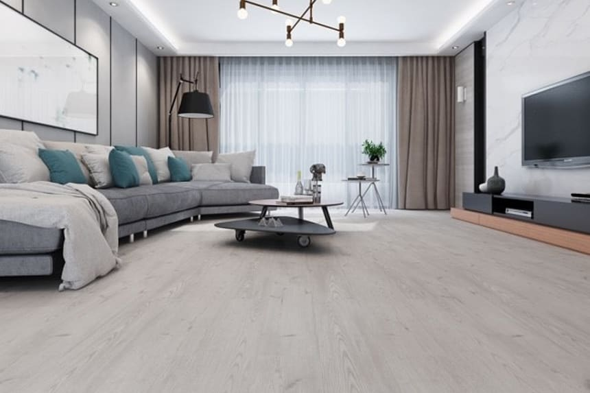 Luxury Click Vinyl Rigid Core Flooring Fossil 4.2mm By 182mm By 1220mm