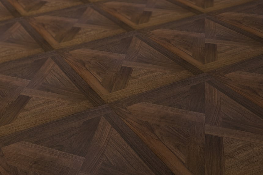 Prime Engineered Flooring Versailles Walnut M103 UV Lacquered 15/3.3mm By 600mm By 600mm