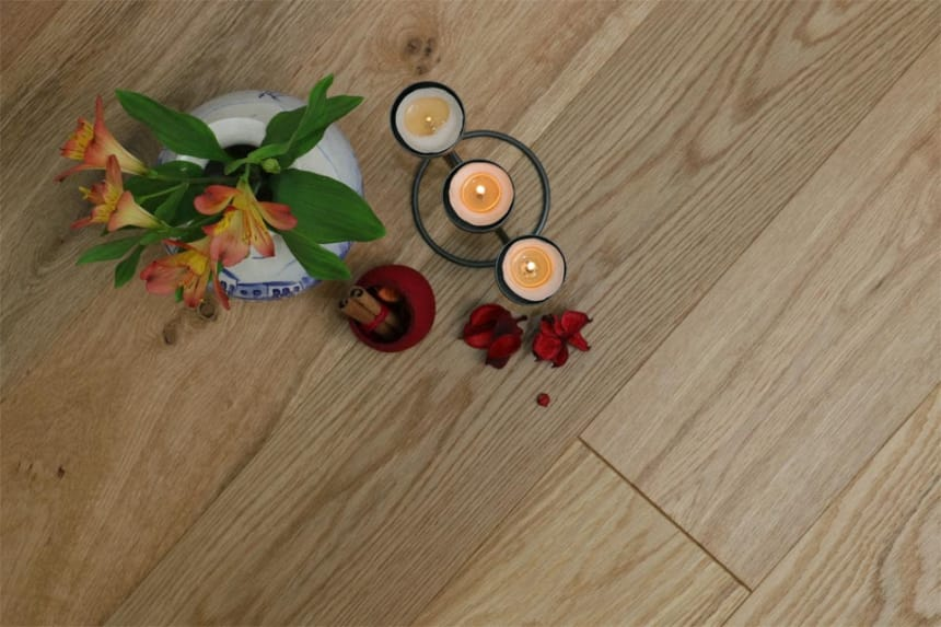 Natural Engineered Flooring Oak Brushed UV Oiled 20/5mm By 180mm By 1900mm