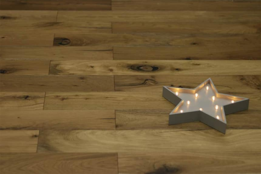 Natural Engineered Flooring Oak Light Smoked Brushed UV Oiled 20/5mm By 180mm By 1900mm