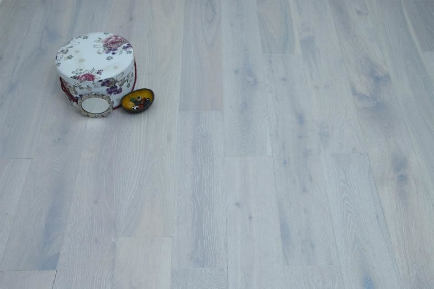 Natural Engineered Flooring Oak London White Brushed UV Oiled 15/4mm By 190mm By 1900mm