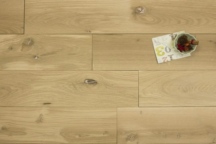 Natural Engineered Flooring Oak Unfinished 15/3mm By 180mm By 1600-2400mm