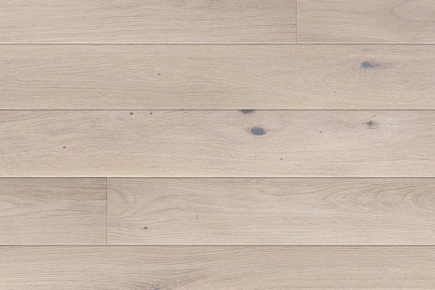 Natural Solid Flooring Oak Polar Brushed UV Oiled 20mm By 120mm By 500-2200mm