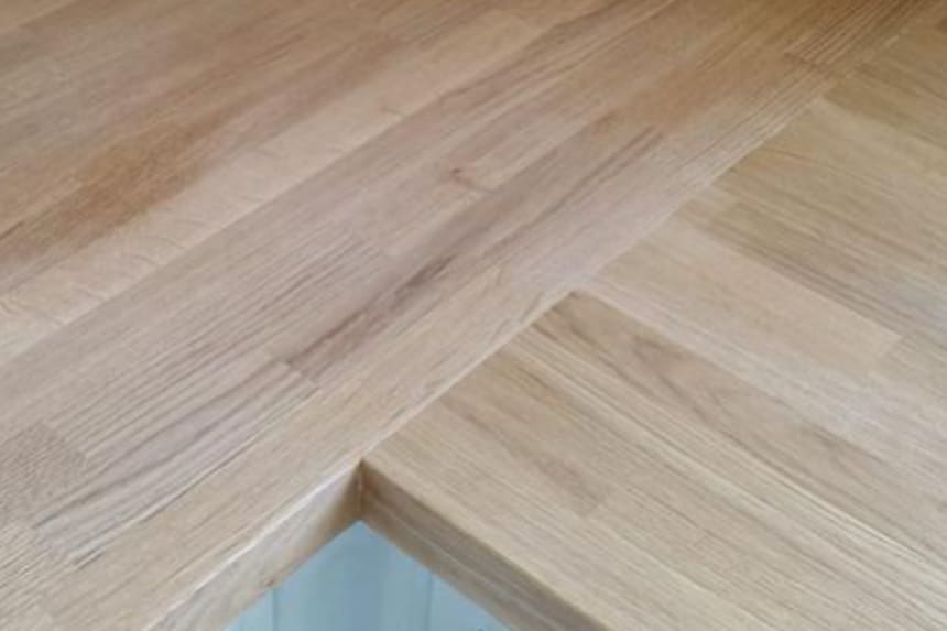 Premium White Oak Worktop 43mm Staves 40mm By 650mm By 4000mm